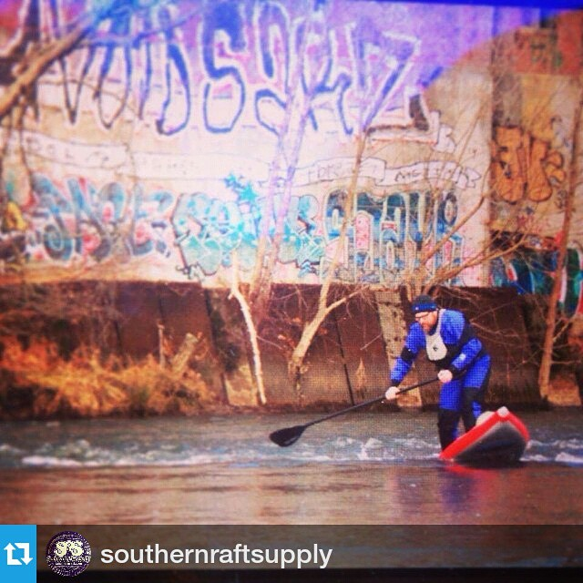 #Repost by @southernraftsupply ・・・ Surfing the Hala Nass on the French Broad about a week ago...before it froze over! #frenchbroadriver #sup #halagear #graffiti #riverart #halanass #theweeklyinsta #supsurfing #standuppaddle #stand_up_paddle...