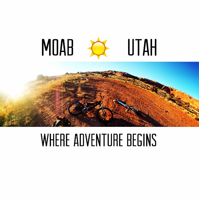 Moab is PERFECT weather right now! Nothing like a gnarly spring mountain bike ride to rejuvenate my soul! #Adventureland #moab #utah