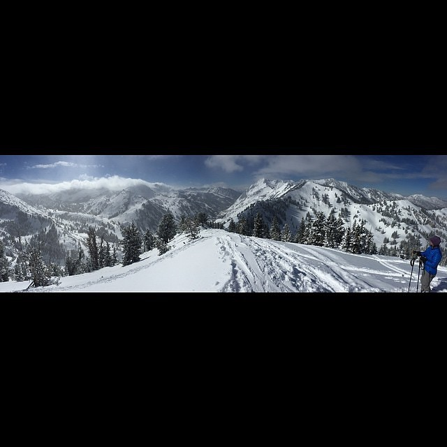 A nice panoramic to start your day off...courtesy of team rider and super @brightonresort local Everest Arnold (@thehighestmtn)