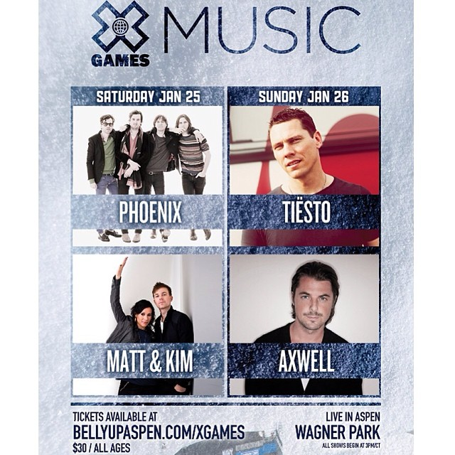 Got music on the mind. Get ready for Aspen next month! #xgames