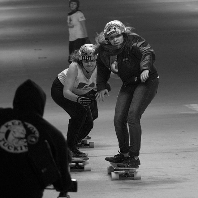 Go to www.longboardgirlscrew.com and check LGC Canada ambassador @di_zzy_j full event review on the @nobull_longboarder Bayou Battle in Texas, where they hosted the first ever legal garage race. So epic.  @kateslynne & Taylor on their way to the...