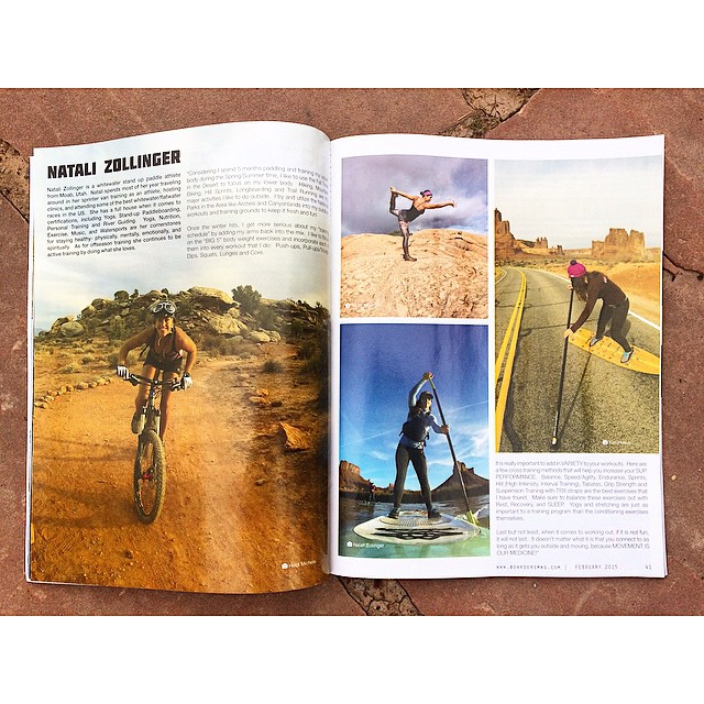 Found this little gem waiting for me at home after my 5 weeks of travels. Thanks @boardersmag for the full page spread of winter training in Moab, Utah! Make sure you pick up your copy today, lots of good stuff in there!! #Boardersmag #moab #utah...