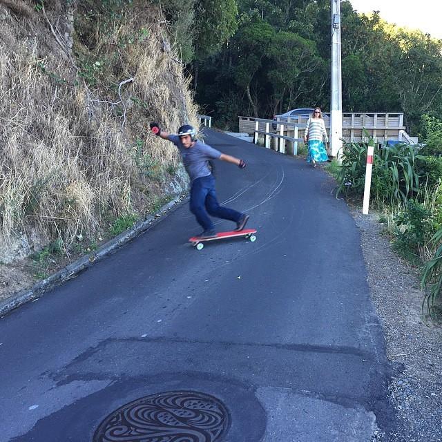 Bakside Thursday with @tyler_howell_sb in NZ ! Regram from @skatebloodorange #keepitholesom