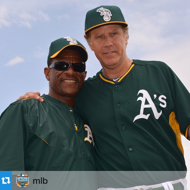 Did we just become best friends? • Check out Ricky Henderson reppin' his Hovens.  #hovenvision #willferrell @mlb ・・・