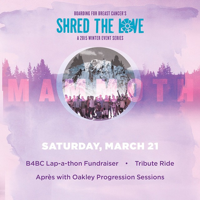 NEXT SATURDAY we are headed back to a snowy @mammothmountain for the annual #ShredTheLove Mammoth event! Fundraise for the iconic lap-a-thon to win prizes from sponsors like @thenorthface, @gnusnowboards, @nixon_now, @oakleywomen, @vonzipper, free lift...