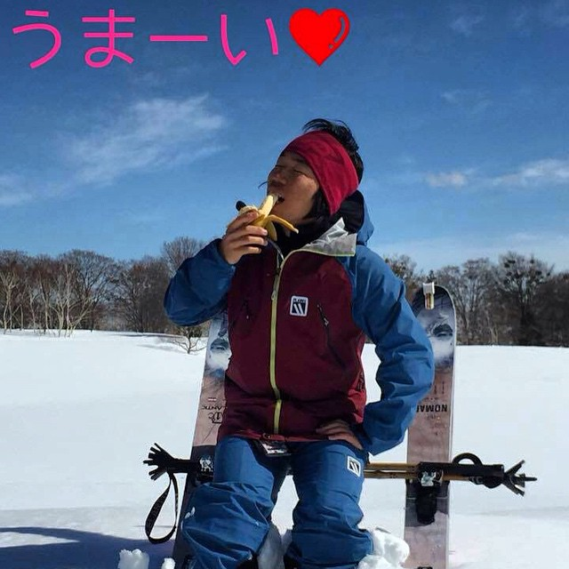 Japan's Shogo Kawano loves bananas. Panda Poles love bananas too... #TribeUP bananas!  Umai ne?! #PandaPoles #JapandaPoles #PandaTribe