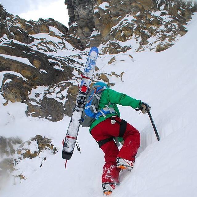 MHM sponsored pro skier, Jundai Nakashio, punching the clock with his PowderKeg. #earnyourturns #respect