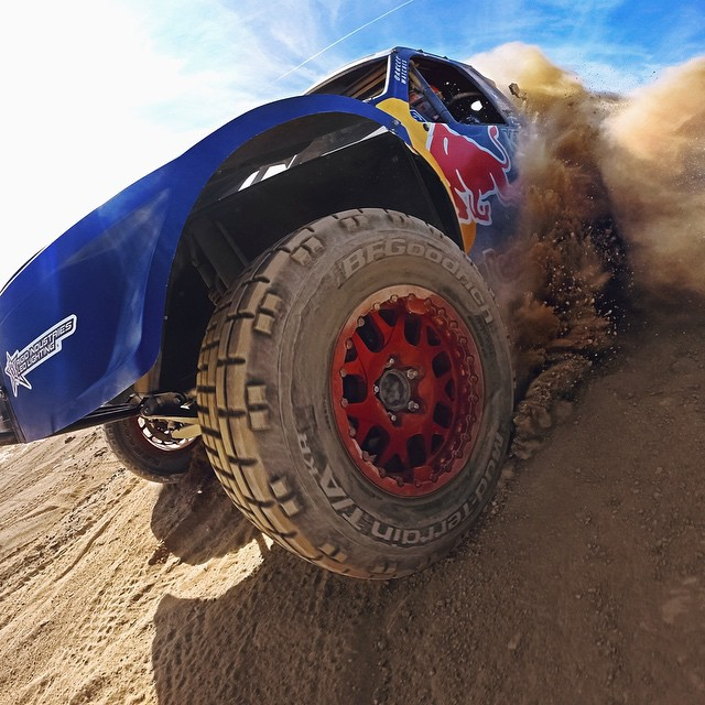 GoPro athlete and off-road champion @brycemenzies7 tackles the unforgiving desert terrain of the legendary @themint400 this weekend while trying to capture his 7th off-road championship.  Good luck, Bryce!! #gopro #neverlift #offroad
