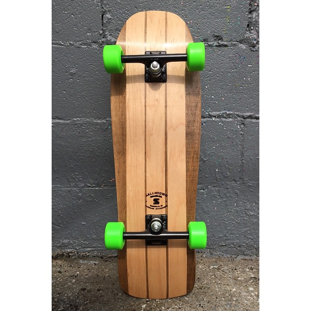 One of the old school shapes we set up. It has @acetrucks and 64mm Bones Wheels. This thing is a monster. It will go up later today. We are thinking about putting the shape into production.