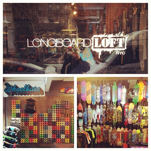 If you are enjoying the East Coast holiday be sure to swing through @longboardloftnyc and holler some seasons greetings at Paul and Dave whilst examining their fine skateboarding goodies! Happy Holidays y'all... #calibertrucks