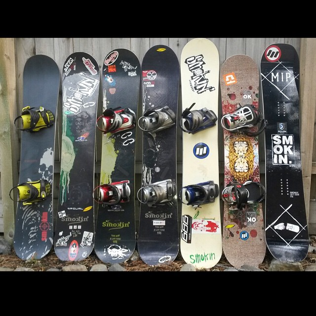 Thanks for the timeline shot from our boy #Hank  he worked at #Silence snowboards ( where we got our first press -while the alarms were going -off as we were loading up my Subaru and trailor with all the goodies we could fit) here is 20 years of Smokin...