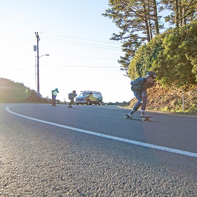 The DB shop crew taking a run along Highway 101... #cannonbeach #oregon #pnw #justgoshoot #longboard #longboarding #longboarder #dblongboards #goskate #shred #rad #stoked #skateboard #skateboarding #skateboarder #longboardlife #world_longboard...