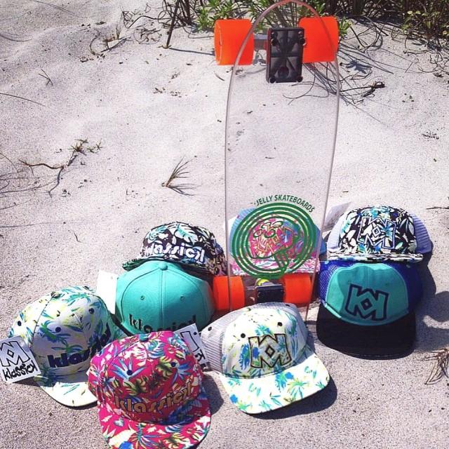 hats on hats on hats by @klassickbrand #jellyskateboards #jellylife #klassickbrand #beach