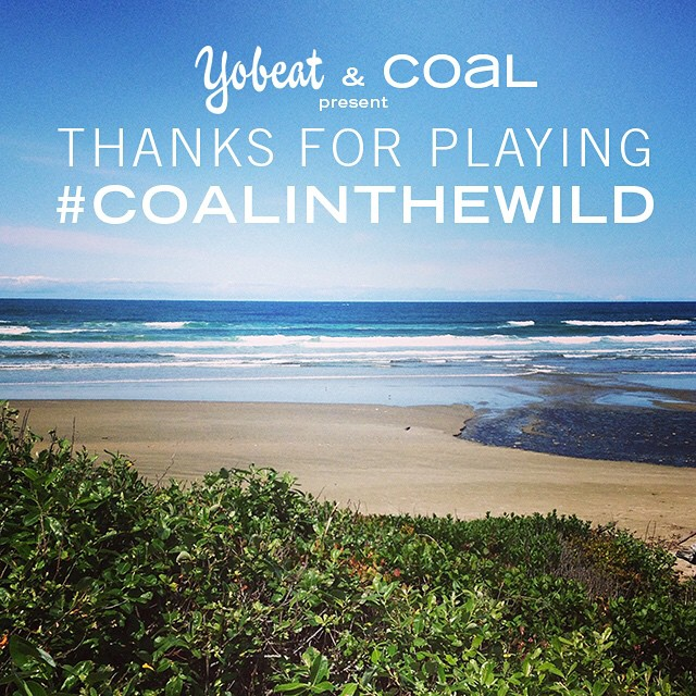 We are not giving away a beach vacay, but we did decide the winners for the @yobeat #coalinthewild contest. Check back tomorrow to see who's photos won!
