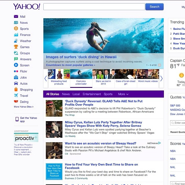 Holy cow! I'm on the front of Yahoo today!  #underwater #sarahleephoto #alisonsadventures #blessed