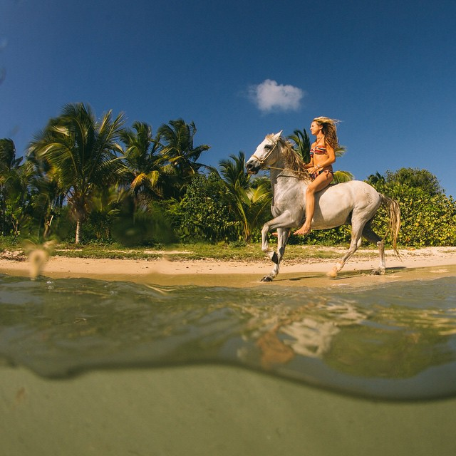 "One of my most favorites things about the island of Vieques is there are more horses then cars and it's fun to have a stylish ride that is great for ""off roading"""