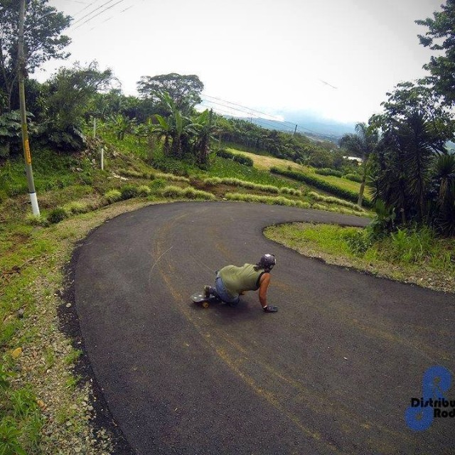 Pamela Lobo taking a right in #CostaRica. Pic Distribuidora Rodando. What a place! #longboardgirlscrew