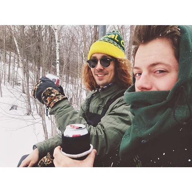 Is he a fan of the A's? A fan of the Packers? Nah, we had to regram this of @brendonjrego cause he's a fan of boardin and drinking beers with the boys.