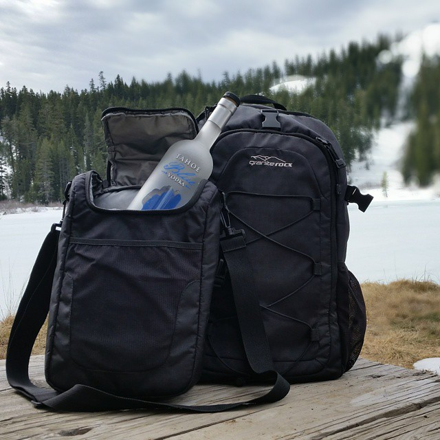Awesome #hike with the Tahoe Backpack & Cooler to a frozen Lake Louise.  Always enjoy some fresh @tahoebluevodka too!  #Tahoe #lakes #getoutdoors #adventure #springscoming #backpacks #coolers #graniterocx