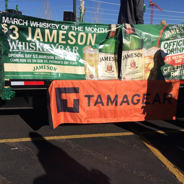 #TAMAGEAR #whiskeybar #jameson #Stpatricksdayparadedenver