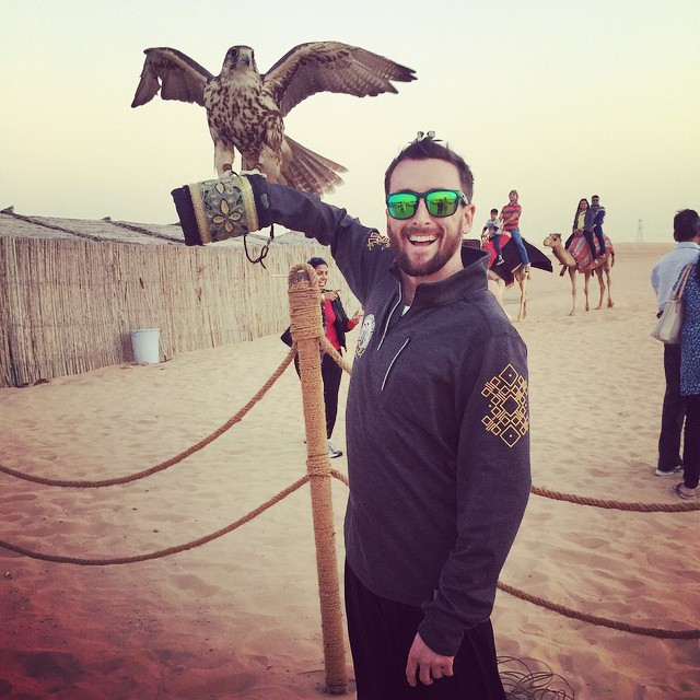 Wild safari with camels and a friendly falcon #waveborn #findthesun #adventureinthedesert
