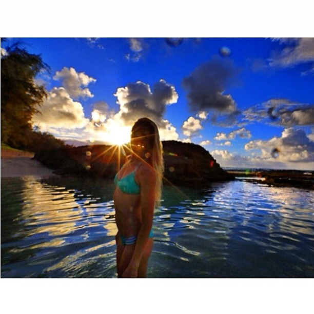 @emilybates11 on her @thesurfchannel #bikiniadventure through #hawaii --- don't forget to vote for your favorite #adventuring #photo at thesurfchannel.com