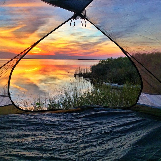Photo of the Day! A room with a view. Photo by @j_dubb. #gopro #camping #sunse