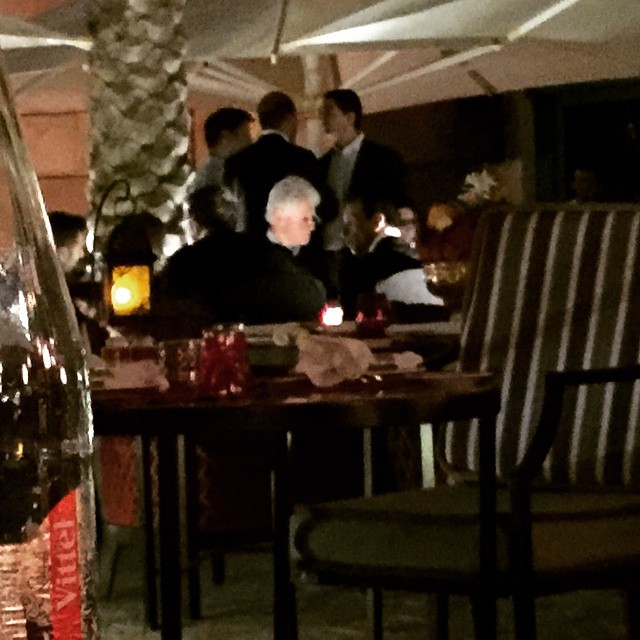 Bill Clinton is having dinner next to us in #dubai #potus #usa #america