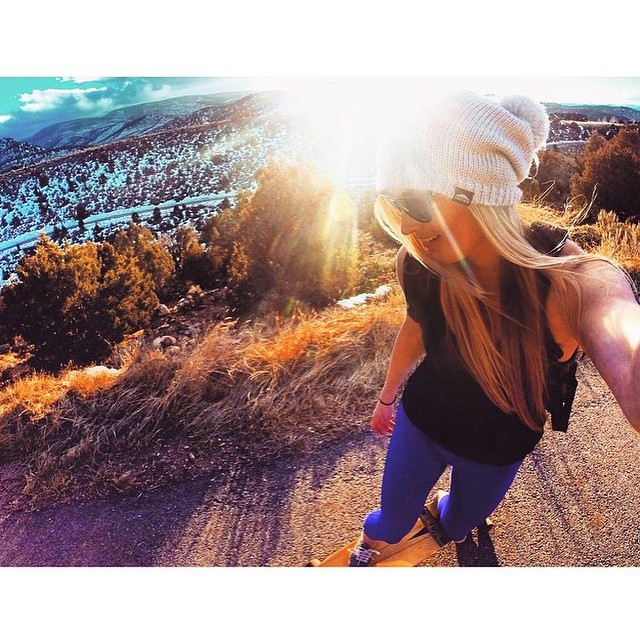 What we do when we're not in our MI OLA - via our very own rockstar @meredithdrangin #getoutthere #bombhills #skateordie #sidewalksurfing