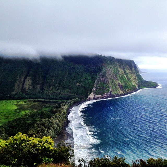 Surf's up! But so is the wind and rain! Pull up your cloud blanket! #waipiovalley