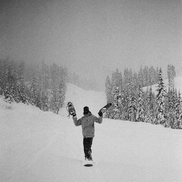 The first of many film photos shot by Coal Snow Ambassador @austensweetin while traveling abroad for @absinthefilms reminding us what goes up, must come down. #film #snowshoes #physics