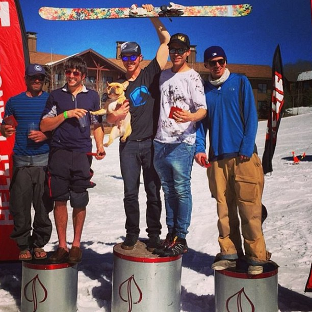 Congratulations to Folsom athlete @johnaustinnelson and teammate @gregstrokes for winning The Battle Of The Bowl! Austin's ski of choice for a quick uphill and an even faster downhill is the 189cm Trigger II
