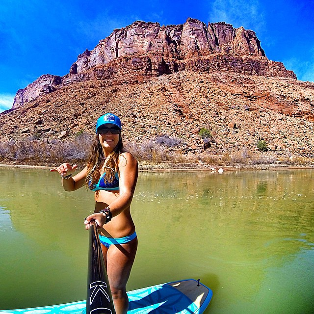 Spring is here in Moab!! Paddled my #joyrideflow out on the river today! I feel so blessed to be close to all these amazing places to paddle and adventure in! @boardworkssurfsup #welivewater #teamboardworks @localhoneydesigns