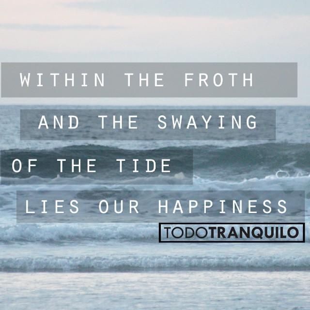 Entre la espuma y el timon de la marea, habita nuestra felicidad. TODO TRANQUILO | Prolific Generation #prolificgeneration #surf #thearts #yerbamate #nature
