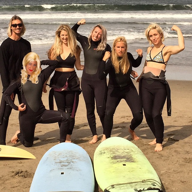 #kindafancy #surf club --- yes, we are all naturally #blonde.  Guess it's all that time in the #california sun! #trustmeitsreal #100percentnatural --- especially @linny8990