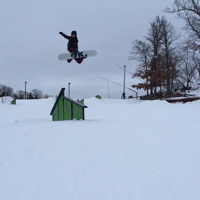 Is he landing on the rail? #weareok  #middwest #ishestillontheteam?#justaskforone