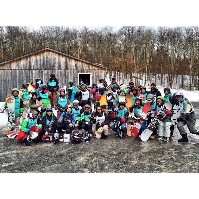 Repost from our special guest mentor @stevenrojas.  An awesome day on the mountain - thanks for making many #stokedmoments with us! @stokedorg @stokedny @snowmentor @shredding