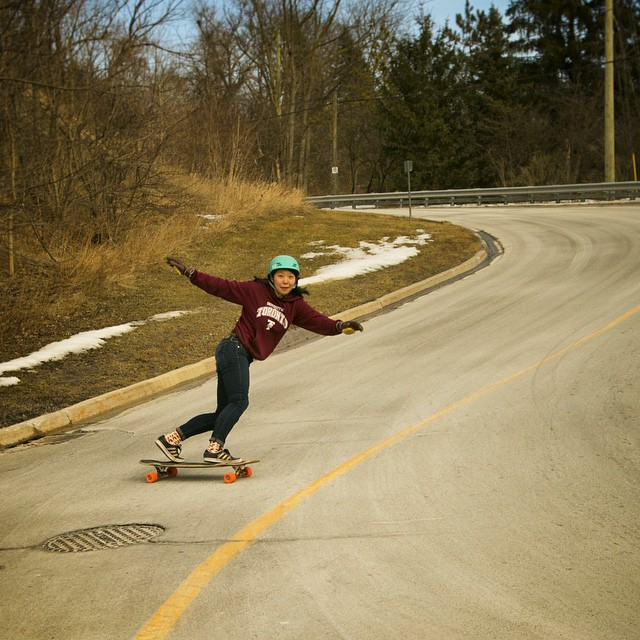 @cindyzskates on the #Tesseract with a smile. Only a few more days of winter!