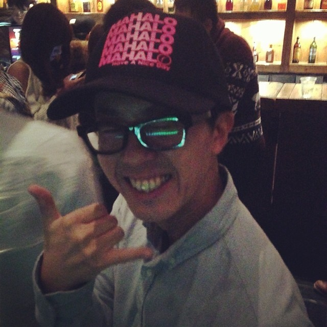 Krazy when friends vacay in #Osaka for #NY2014 and spotted #Organik #mahalo hat in the first bar in #Japan. Photo: @rechung #biginjapan