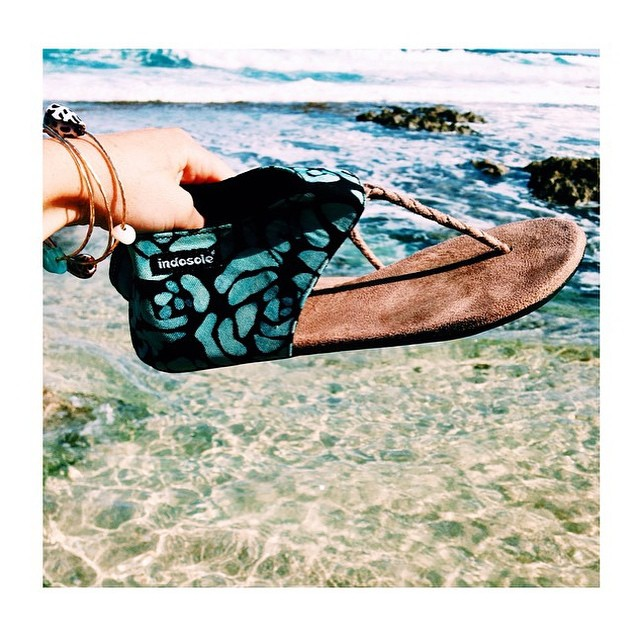 "#regram @tayrosenels ""if I'm not barefoot I'm in my #indosole sandals!"" Thx for the"