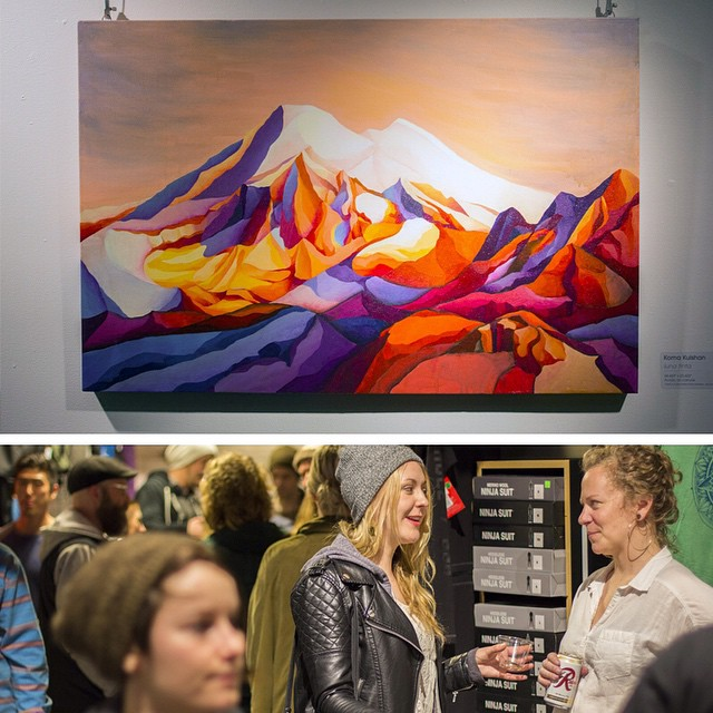 Toss back Tuesday to the opening night of Wandering Eyes at @evoseattle.  The show hangs for a few more days there and lands March 27 @evoportland. || Originals and prints available at asymbol.co or in the flesh at evo.  To sleep on this would be a...