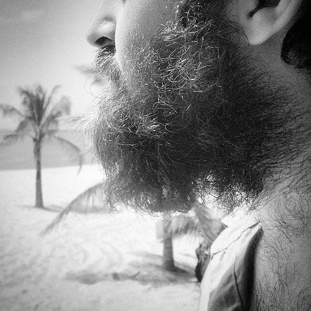 Una #barba,  una #playa y #yo