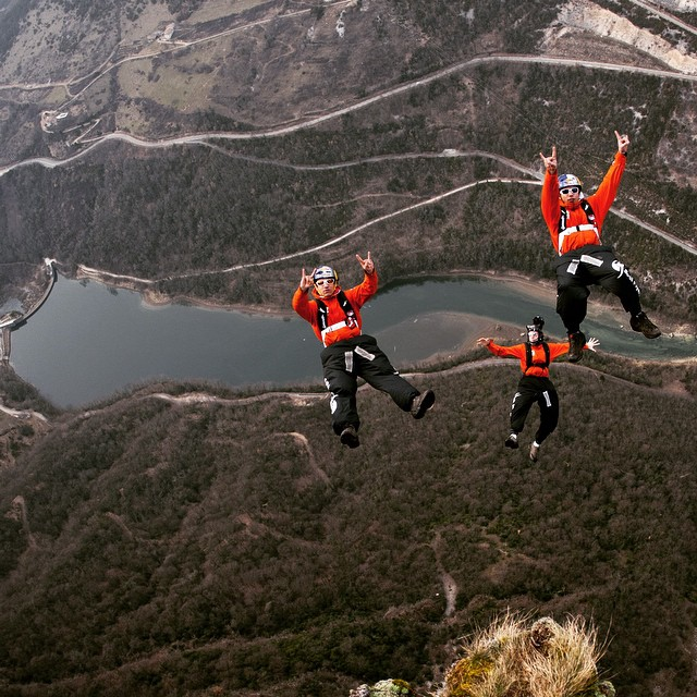 Join the high-fliers. @fredfugen and @vincereffet #BASE jumping in France. From the @redbulladventure archives.