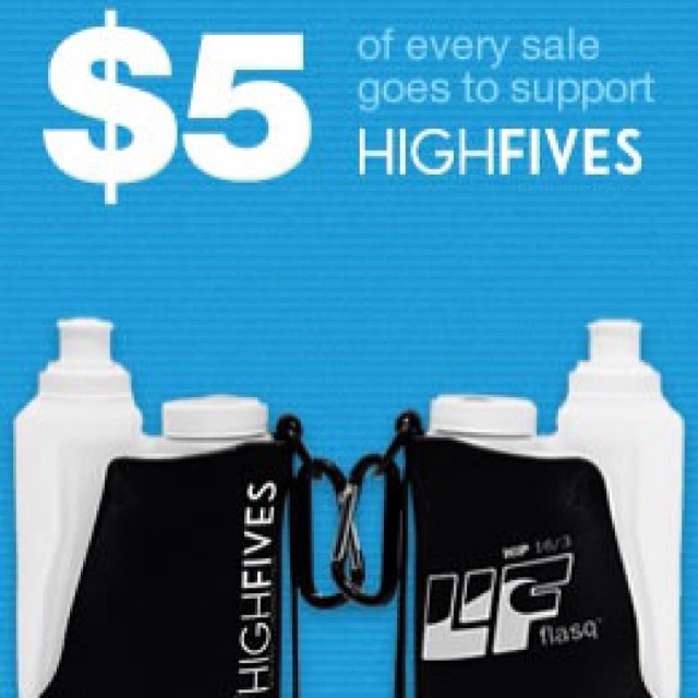 Stay hydrated with a #LifeIsFluid LIF Flasq | @hi5sfoundation limited edition dual chamber hydration system. $5 of every sale supports the Foundation through February! Learn more at lifeisfluid.com #High5ives