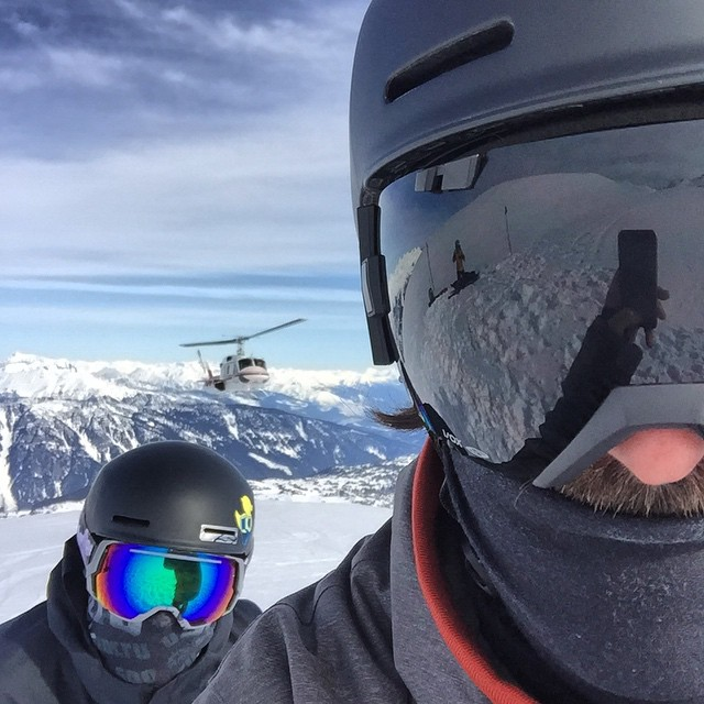 Mission accomplished, scored a @selfiestevewallace post // Two bucket list items in one day and I got to go Heli-Skiing at #CMHGothics with my best friend