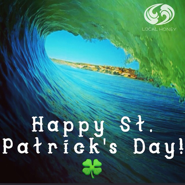 #stpatricksday #luckoftheirish #localhoneydesigns #greenwave #irish #ocean #dream #love #luck