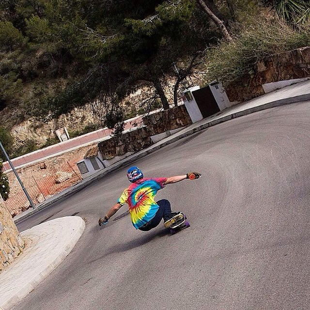 @thecontee smashing into a corner on a Stalker V2 in Spain. #spain #longboarding #dblongboards #goskate