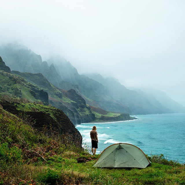 Backpacking the Napali Coast. Is it on your bucket list? #GetOutStayOut  Photo: @travisburkephotography