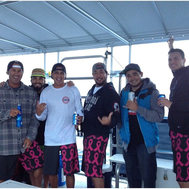 A huge mahalo to everyone who supported @scottyfong and @kumu_ulu by purchasing the Breast Cancer Awareness boardshorts. All proceeds are being donated to team rider Scotty's mom, who was diagnosed with breast cancer. There's still a few pairs left so,...