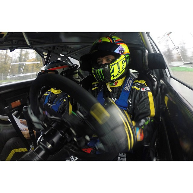 Nine-time MotoGP champion @valeyellow46 will hit the track on FOUR wheels this Saturday at 3 pm ET/1 pm PT on ABC! #MonzaRallyShow